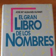 Enciclopedias de segunda mano: EL GRAN LIBRO DE LOS NOMBRES (JOSEP Mª A. OLIVART) (CÍRCULO - 1995) 320 PÁGS. - TAPA DURA. Lote 74441835