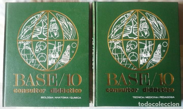 DOS LIBROS DE LA ENCICLOPEDIA BASE / 10 CONSULTOR DIDACTICO (Libros de Segunda Mano - Enciclopedias)