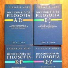 Enciclopedias de segunda mano: DICCIONARIO DE FILOSOFIA - FERRATER MORA - 4 TOMOS. Lote 87666544