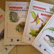 Enciclopedias de segunda mano: 4 TOMOS - NATURALEZA AMENAZADA , VOL I MAMIFEROS, VOL 2 AVES VOL 3 ANFIBIOS, REPTILES Y PECES VOL 4. Lote 88198468