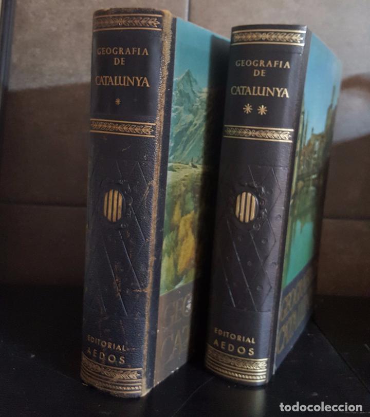 GEOGRAFIA DE CATALUNYA.TOMOS I Y II. BELLAMENTE ILUSTRADA.1958.EN CATALÀ AEDOS. (Libros de Segunda Mano - Enciclopedias)