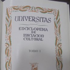 Enciclopedias de segunda mano: UNIVERSITAS. ENCICLOPEDIA E INICIACION CULTURAL. TOMO I. SALVAT EDITORES. BARCELONA. 1º ED. 1943. Lote 90525815