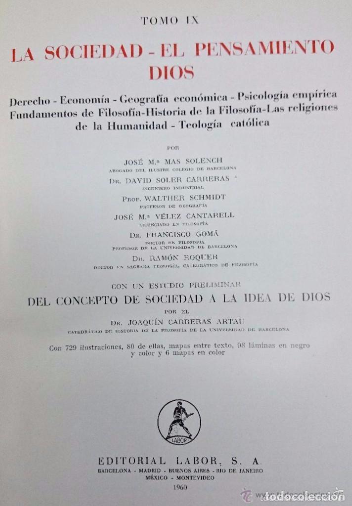 Enciclopedias de segunda mano: ENCICLOPEDIA LABOR. TOMO 9 LA SOCIEDAD. EL PENSAMIENTO. DIOS - Foto 3 - 90803780
