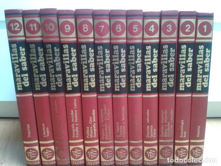 ENCICLOPEDIA COMPLETA ( 12 TOM ) MARAVILLAS DEL SABER - CONSULTOR DIDÁCTICO - CREDSA EDICIONES, 1976 (Libros de Segunda Mano - Enciclopedias)