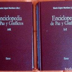 Enciclopedias de segunda mano: ENCICLOPEDIA DE PAZ Y CONFLICTOS – 2 TOMOS MARIO LOPEZ MARTINEZ. Lote 93898050