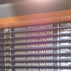 Enciclopedias de segunda mano: GEOGRAFIA UNIVERSAL SALVAT - 15 TOMOS ESPAÑA Y LOS 5 CONTINENTES+ATLAS ESPAÑA - NUEVO. Lote 94073405