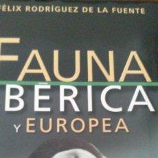 Enciclopedias de segunda mano: FAUNA IBERICA Y EUROPEA - FELIX R. DE LA FUENTE - 12 TOMOS. Lote 94073855