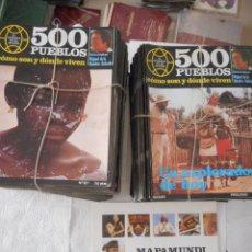 Enciclopedias de segunda mano: 500 PUEBLOS. COMO SON Y DONDE VIVEN + MAPAMUNDI ETNOLÓGICO. MIGUEL DE LA QUADRA SALCEDO. 116 FASC.. Lote 121464692