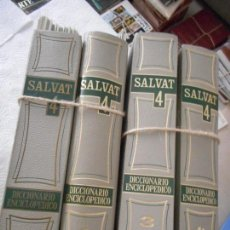 Enciclopedias de segunda mano: SALVAT 4. DICCIONARIO ENCICLOPÉDICO. 4 TOMOS. PARA ENCUADERNAR. NUNCA USADO. BUEN ESTADO. Lote 129330270