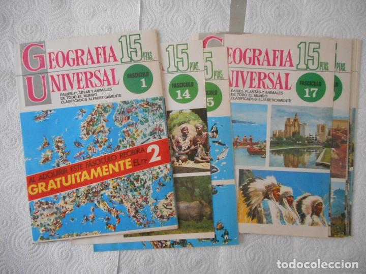 CARÁTULAS ENCICLOPEDIA GEOGRAFÍA UNIVERSAL. 28 PORTADAS. BUEN ESTADO (Libros de Segunda Mano - Enciclopedias)
