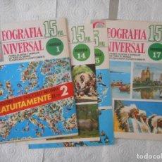 Enciclopedias de segunda mano: CARÁTULAS ENCICLOPEDIA GEOGRAFÍA UNIVERSAL. 28 PORTADAS. BUEN ESTADO. Lote 97244155