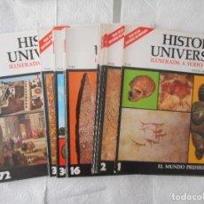 Enciclopedias de segunda mano: CARÁTULAS ENCICLOPEDIA HISTORIA UNIVERSAL. 116 PORTADAS. BUEN ESTADO. Lote 97244263