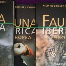 Enciclopedias de segunda mano: LOTE 5 TOMOS FAUNA IBÉRICA. SALVAT 2003. Lote 98751475