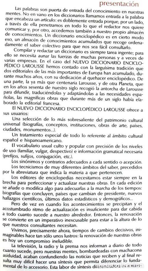 Enciclopedias de segunda mano: DICCIONARIO ENCICLOPÉDICO LAROUSSE - COMPLETO + 1 TOMO SUPLEMENTO - 2852 PÁGINAS - VER - Foto 3 - 99282095