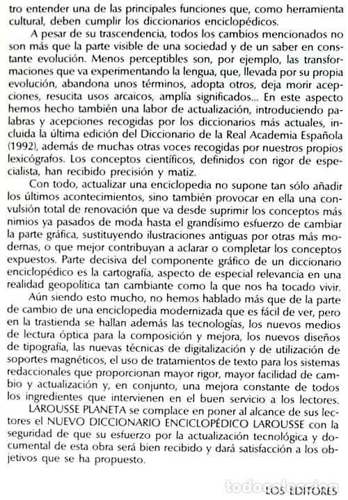 Enciclopedias de segunda mano: DICCIONARIO ENCICLOPÉDICO LAROUSSE - COMPLETO + 1 TOMO SUPLEMENTO - 2852 PÁGINAS - VER - Foto 4 - 99282095