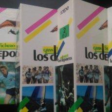 Livres d'occasion: GRAN FICHERO DE LOS DEPORTES . COMPLETO. 4 TOMOS. SARPE. AÑO 1984. PÁGINAS 640. PESO 5 KG.. Lote 100025378