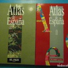 Enciclopedias de segunda mano: ATLAS DE ESPAÑA. DIARIO EL PAIS. AGUILAR. 1992 Y 1993. 2 TOMOS. Lote 100919531