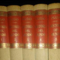 Enciclopedias de segunda mano: HISTORIA DEL MUNDO. PIJOAN. SALVAT EDITORES. AÑO 1961. 5 TOMOS. ENCUADERNACIÓN TELA. PESO 6500 GR.. Lote 101772431