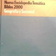 Livros em segunda mão: ENCICLOPEDIA TEMATICA BIBLOS 2000 - GEOGRAFIA Y SOCIEDAD. Lote 103793283