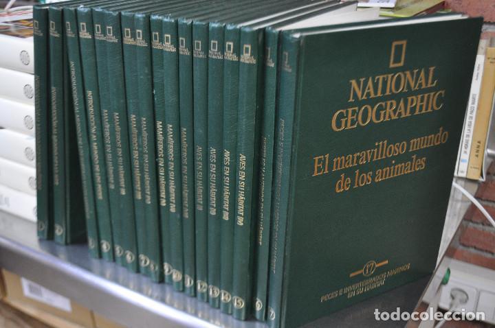 NATIONAL GEOGRAPHIC , EL MARAVILLOSO MUNDO DE LOS ANIMALES - 17 TOMOS COMPLETA - ENM (Libros de Segunda Mano - Enciclopedias)