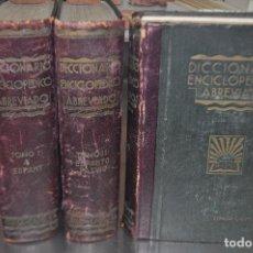 Enciclopedias de segunda mano: 3 TOMOS DICCIONARIO ENCICLOPEDICO ABREVIADO - ESPASA CALPE AÑO 1935 - ENM. Lote 105967683