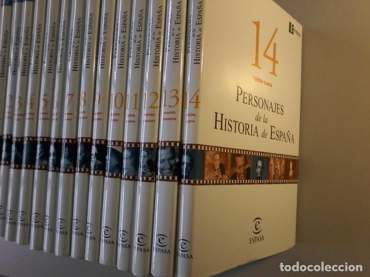 PERSONAJES DE LA HISTORIA DE ESPAÑA - 14 TOMOS - ABC - ESPASA - (Libros de Segunda Mano - Enciclopedias)