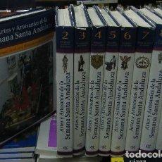 Enciclopedias de segunda mano: ARTES Y ARTESANIAS DE LA SEMANA SANTA ANDALUZA. 9 TOMOS A-SESANTA-1526. Lote 110192419