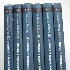 Enciclopedias de segunda mano: ENCICLOPEDIA MCGRAW-HILL DE CIENCIA Y TECNOLOGÍA. TERCERA EDICIÓN. 6 TOMOS. Lote 110684987