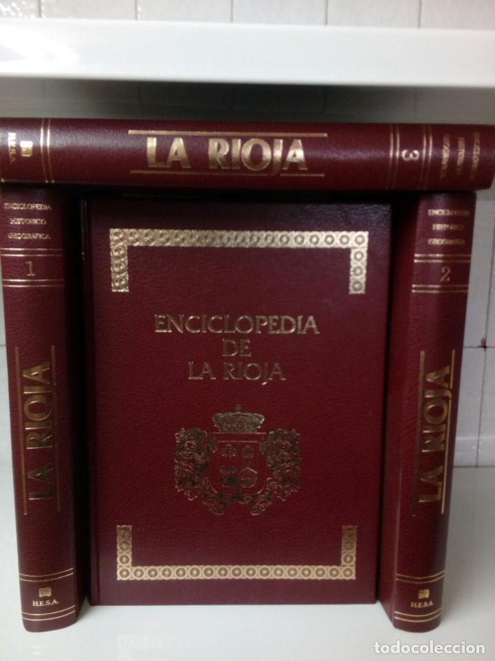 ENCICLOPEDIA DE LA RIOJA - 4 TOMOS - EDITORIAL HESA 1983 (Libros de Segunda Mano - Enciclopedias)