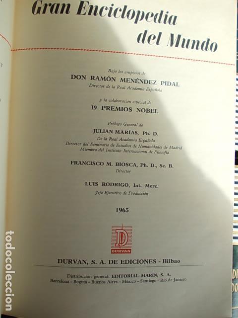 Enciclopedias de segunda mano: Gran enciclopedia del mundo 32 tomos Durvan 1965 - Foto 2 - 112513323