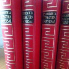 Enciclopedias de segunda mano: HISTORIA LITERATURA UNIVERSAL PLANETA ED 1977- ¡LOS CUATRO TOMOS!- BUEN ESTADO. Lote 116589991