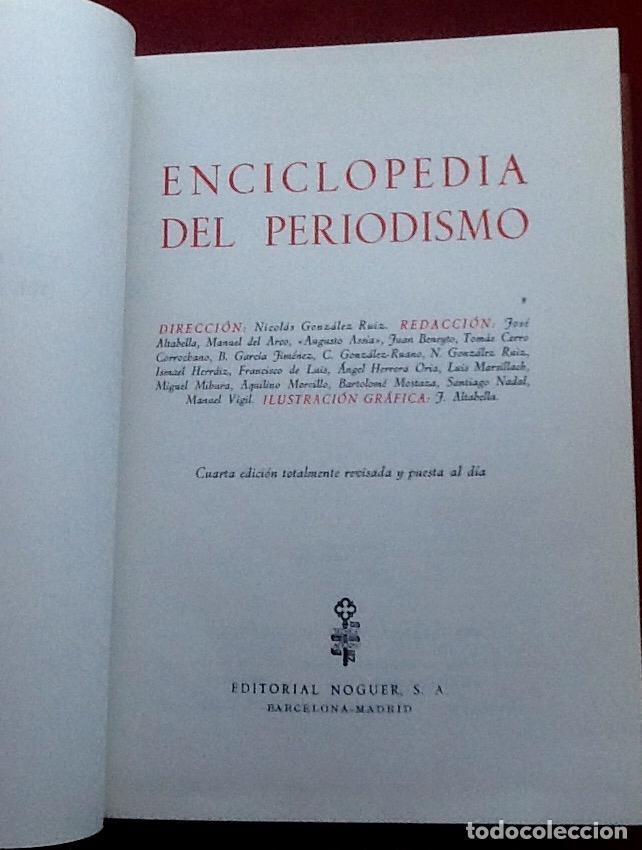 Enciclopedias de segunda mano: ENCICLOPEDIA DEL PERIODISMO. 1966. EL ENVIO CERTIFICADO ESTA INCLUIDO EN EL PRECIO. - Foto 2 - 116665963