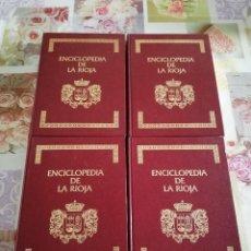 Enciclopedias de segunda mano: ENCICLOPEDIA DE LA RIOJA - 4 TOMOS - (PESO: 8 KILOS · H.E.S.A., 1983). Lote 121623323
