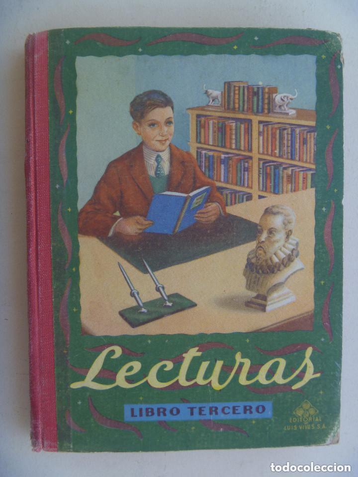 LECTURAS GRADUADAS , LIBRO TERCERO. DE EDELVIVES , ZARAGOZA. 1957. (Libros de Segunda Mano - Enciclopedias)