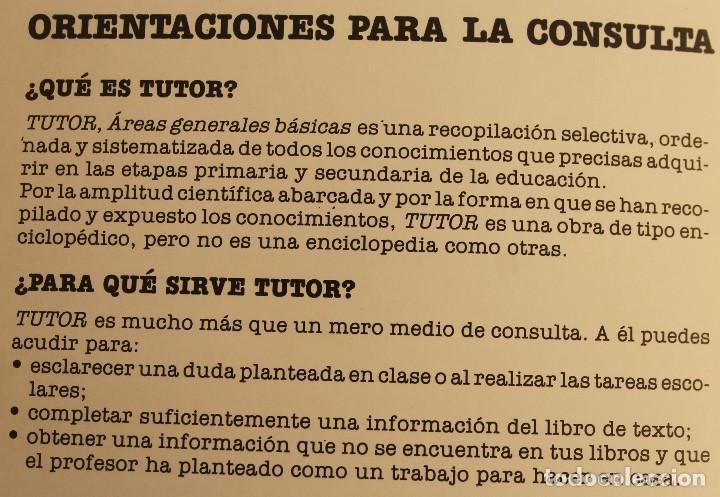 Enciclopedias de segunda mano: TUTOR , AREAS GENERALES BASICAS - OBRA COMPLETA EN 11 TOMOS - LIBROS MEDIO DE CONSULTA ORIENTACION - Foto 3 - 124594595