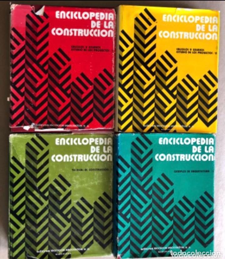ENCICLOPEDIA DE LA CONSTRUCCIÓN, 4 TOMOS. (EDITORES TÉCNICOS ASOCIADOS, 1974). EJEMPLOS DE ARQUITECT (Libros de Segunda Mano - Enciclopedias)