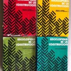 Enciclopedias de segunda mano: ENCICLOPEDIA DE LA CONSTRUCCIÓN, 4 TOMOS. (EDITORES TÉCNICOS ASOCIADOS, 1974). EJEMPLOS DE ARQUITECT. Lote 140377025