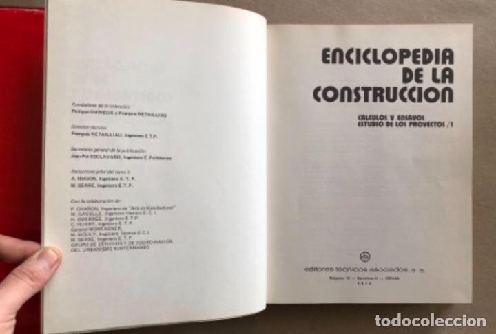 Enciclopedias de segunda mano: ENCICLOPEDIA DE LA CONSTRUCCIÓN, 4 TOMOS. (EDITORES TÉCNICOS ASOCIADOS, 1974). EJEMPLOS DE ARQUITECT - Foto 4 - 140377025