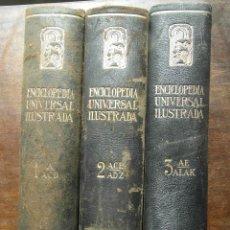 Enciclopedias de segunda mano: ENCICLOPEDIA UNIVERSAL ILUSTRADA. EUROPEO AMERICANA. TOMOS 1, 2 Y 3. Lote 127414911