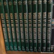 Enciclopedias de segunda mano: LA AVENTURA DE LA VIDA.11 TOMOS.FELIX RODRIGUEZ DE FUENTE. Lote 129720059