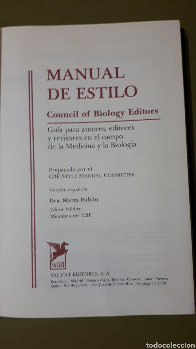 Enciclopedias de segunda mano: Manual de estilo. Salvat 1987. - Foto 2 - 131435041