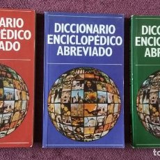 Enciclopedias de segunda mano: DICCIONARIO ENCICLOPÉDICO ABREVIADO, 3 TOMOS ED. NAUTA. Lote 132284994