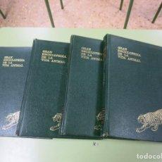 Enciclopedias de segunda mano: GRAN ENCICLOPEDIA DE LA VIDA ANIMAL ASURI 4 TOMOS VOLUMENES. Lote 132580466