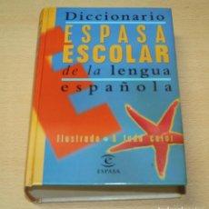 Enciclopedias de segunda mano: DICCIONARIO ESPASA ESCOLAR DE LA LENGUA ESPAÑOLA - ILUSTRADO A TODO COLOR. Lote 132599066