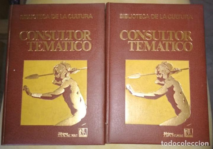 CONSULTOR TEMATICO, PUEBLOS Y RAZAS DEL MUNDO, 2 TOMOS, DANAE 1976, LIBROS (Libros de Segunda Mano - Enciclopedias)