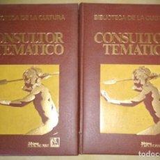 Enciclopedias de segunda mano: CONSULTOR TEMATICO, PUEBLOS Y RAZAS DEL MUNDO, 2 TOMOS, DANAE 1976, LIBROS. Lote 133355850