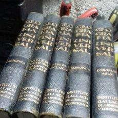 Enciclopedias de segunda mano: GEOGRAFIA UNIVERSAL.5 TOMOS.GALLACH.1963.64.65. Lote 133829681