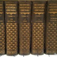 Enciclopedias de segunda mano: DICCIONARIO ENCICLOPEDICO ABREVIADO ESPASA CALPE (7 VOLÚMENES). Lote 134957530