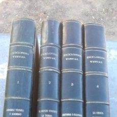 Enciclopedias de segunda mano: ENCICLOPEDIA VISUAL LAROUSSE - RARA ENCUADERNACION - 4 TOMOS - COMPLETA. Lote 135213978