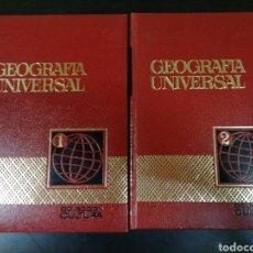 Enciclopedias de segunda mano: GEOGRAFÍA UNIVERSAL. DOS TOMOS. COLECCIÓN CULTURA. EDITORIAL BRUGUERA.. Lote 136049180